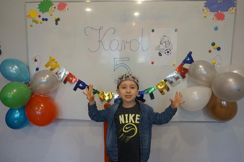 5 urodzinki Karola :) spełnienia marzeń :)